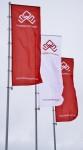 Флагштоки 9м у офиса продаж Новомарусино