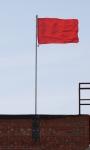 Уличный флагшток 3,7м на крыше здания