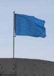 Уличный флагшток 4,2м на крыше здания